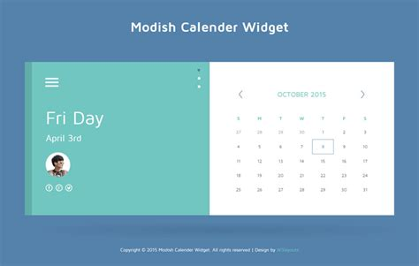 calendar responsive design modish calendar responsive widget template by w3layouts