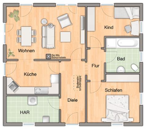 winkelk che landhaus der bungalow 92 grundriss bungalow 92 3 zimmer variante