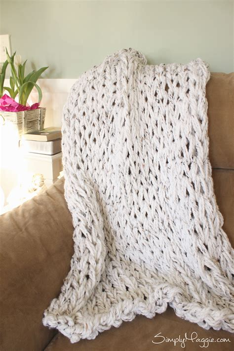 Arm Knit Chunky Blanket by Knit A Chunky Blanket In 1 Hour With Arm Knitting