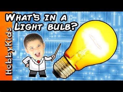 what's in a light bulb? hobbyscience lab youtube