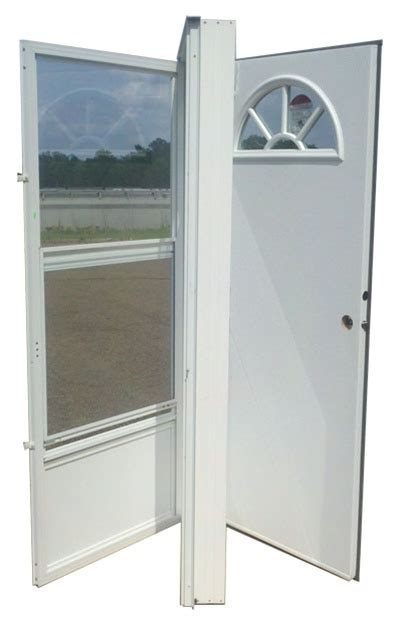 36x76 aluminum door fan window lh for mobile home