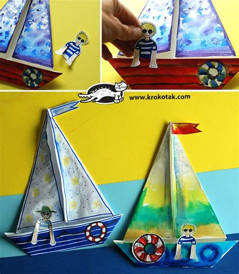 Craft Paper Boat - paper boats krokotak boating activities and child