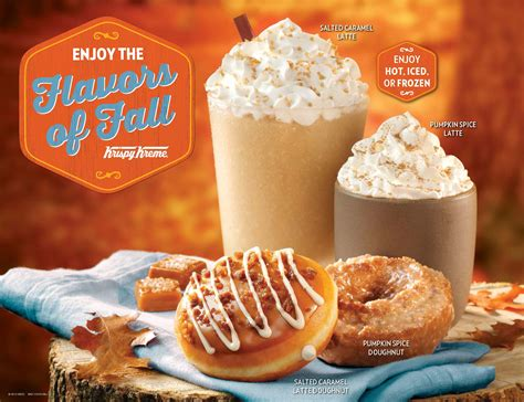 krispy kreme s krispy kreme celebrates fall with new flavors on the go