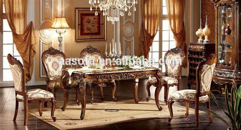 muebles clasicos de madera de lujo comedor juego de