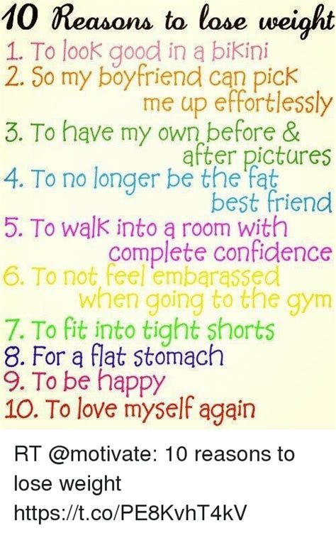 can i lose weight by in my room 10 reasons to lose weight 1 to look in a 2 so my boyfriend can me up