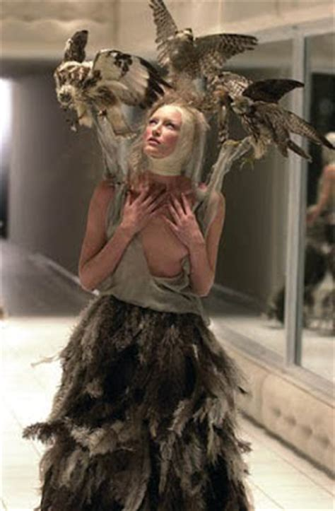 Folded Neck Fluted Dress the fashion archive the mcqueen archive