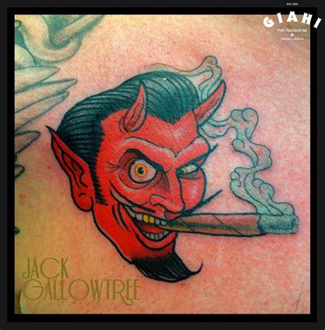 new school devil tattoo smoking devil tattoo by jack gallowtree best tattoo