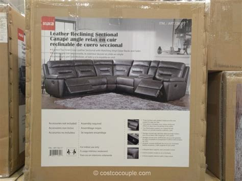 kuka sectional leather sofa costco leather recliner sofas sectionals costco leather