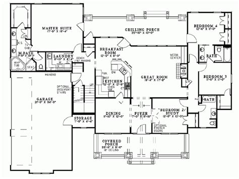 7 Decorative Single Story House Plans With Bonus Room Single Story House Plans With Bonus Room
