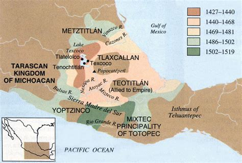 Valley Of Mexico Map by Aztec Expansionism