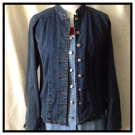 Metal Button Denim Jacket unique denim jacket with ornate metal buttons 6 from andre