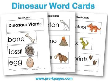 learning pattern word wall dinosaur literacy kindergarten cards and preschool dinosaur