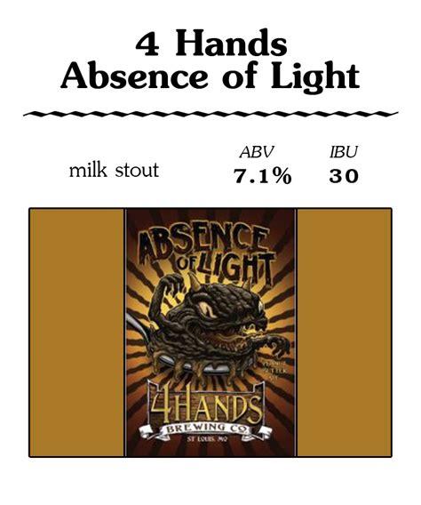 absence of light beer 4 hands absence of light flingers pizza pub