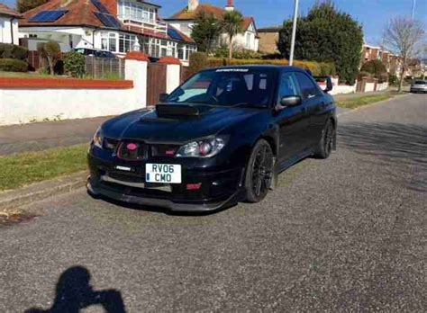 subaru car back subaru 2006 impreza wrx sti black 380 bhp type uk can t