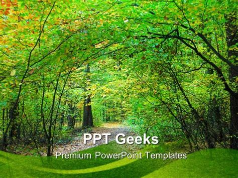 Way Through Forest Nature Powerpoint Templates And Forest Powerpoint Background
