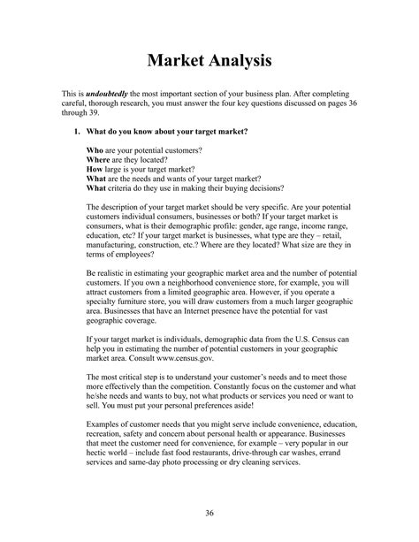 market analysis 9 market analysis exles pdf word