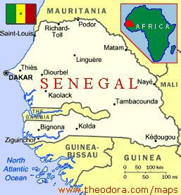 africa map senegal about senegal