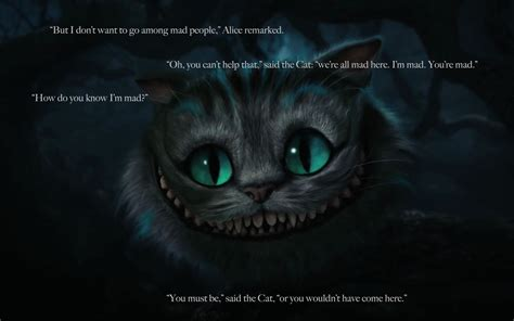 cat wallpaper with quotes cats alice in wonderland quotes cheshire cat 1920x1200