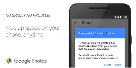 imagenes guardadas android libera espacio en google fotos borrando fotos ya guardadas