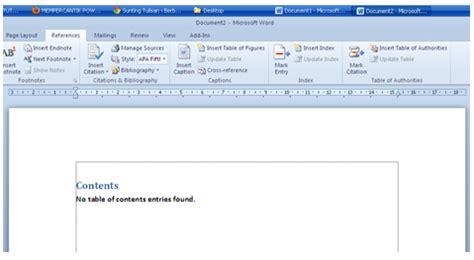 membuat daftar gambar otomatis ms word 2010 membuat daftar isi otomatis pada ms office word 2010