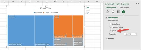 create tree map how to create a tree map chart in excel 2016