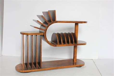 3 Tier Magazine Rack by Deco Three Tier Wood Magazine Rack And Table At 1stdibs