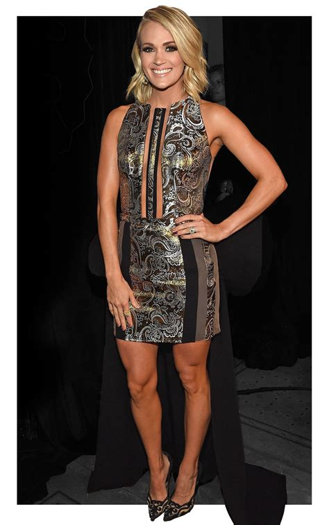 Which Of Carries Three Dresses Do You Like Best by Carrie Underwood Looks Like A Goddess In Sheer Panel Dress