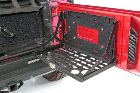 jeep tailgate storage smittybilt 2793 tailgate for 07 18 jeep wrangler jk