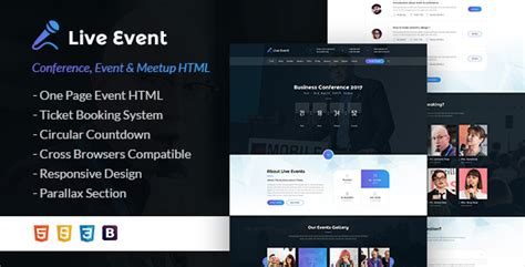 live event themes live event conference event meetup html template