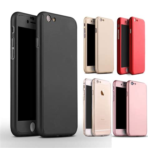iphone 5 cases 360 protector genuine slim cover for iphone 5 5s se 6 6s 7 plus ebay