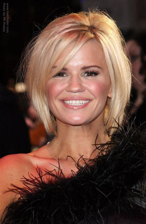 below the chin layered hairstyles kerry katona s tattoo and her below the chin bob with a