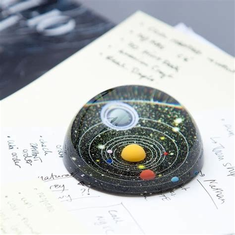 How To Make A Glass Paper Weight - solar system paperweights desk paperweight