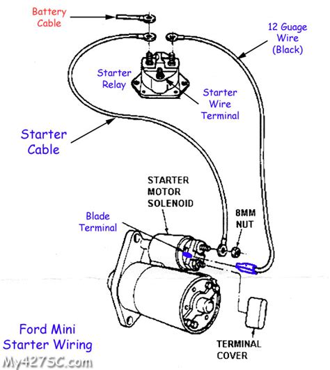 ford 2000 tractor starter solenoid wiring diagram autos post