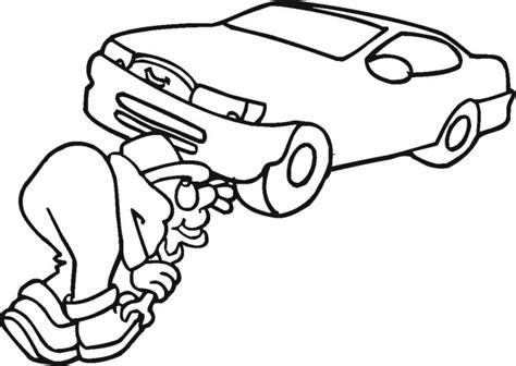 free car repair mechanic coloring pages