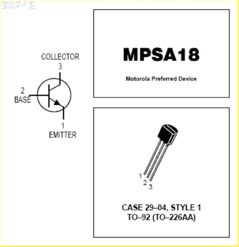 mpsa18 x100 npn silicon high gain low noise transistor ebay