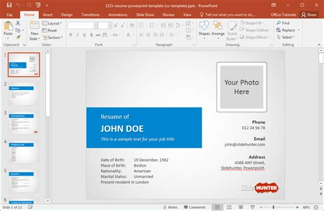 How To Make A Resume In Powerpoint Powerpoint Resume Template Free