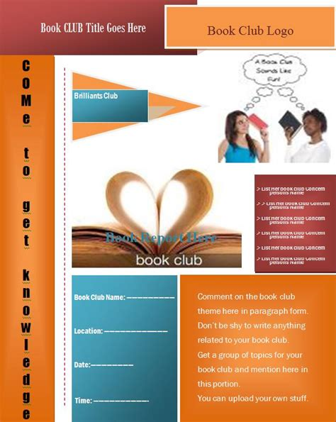 book club flyer template graphics and templates