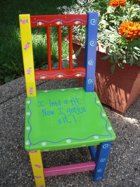timeout bench hand painted time out chair on etsy 40 00 random stuff