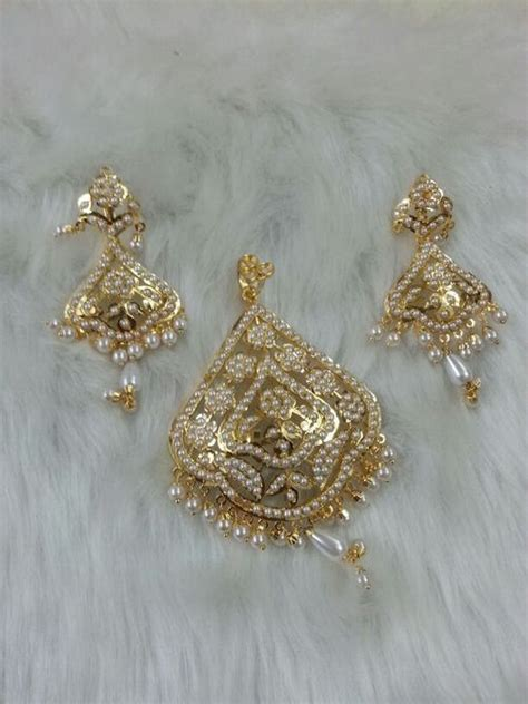 Jewelry Design Of Punjab   women gold plated earrings in amritsar punjab india