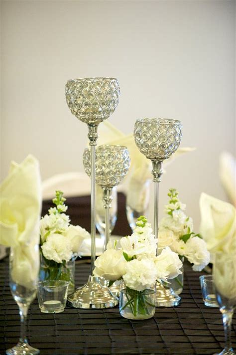 small centerpieces white flowers and small vase centerpiece my