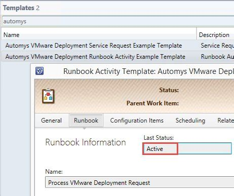 Self Service Vmware Deployment System Center Service Manager And Orchestrator Automys Deployment Runbook Template