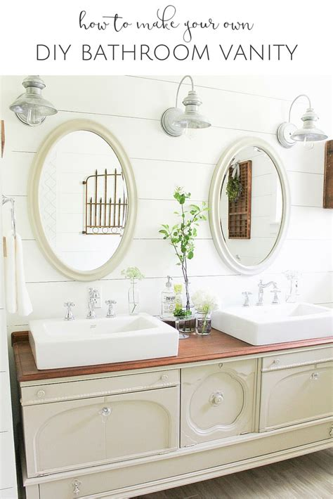 How To Make Your Own Bathroom Vanity Diy Vintage Buffet Bathroom Vanity The Creative Corner 102 Diy Craft Home Decor Link