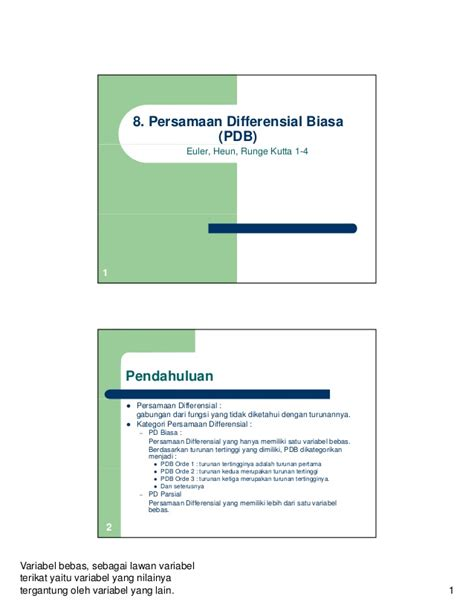 Persamaan Diferensial Biasa 9 persamaan differensial biasa