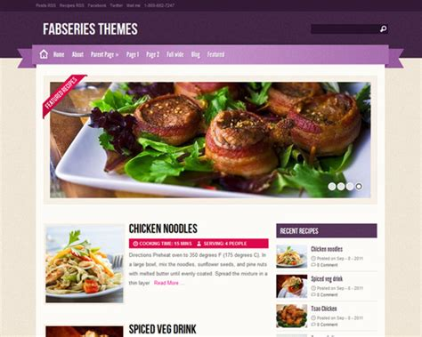 themes wordpress free food zylyz free wordpress food blog theme themeshaker com