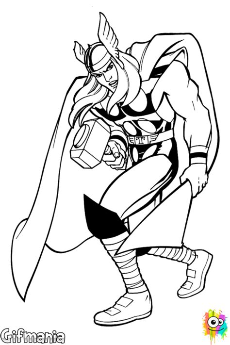 marvel adventures coloring pages thor marvel coloring page