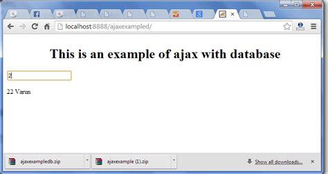 tutorial java ajax ajax exle with database in java javatpoint