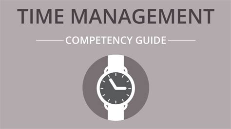 time management competency guide bizlibrary