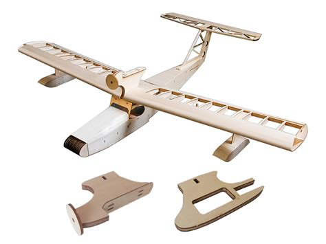 1 6m seaplane miss new orleans balsa wood airplane model rc kit for gas power and electric