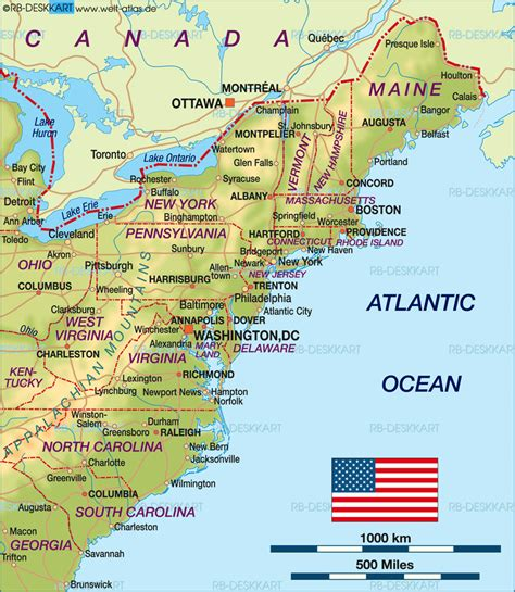 map us east coast major cities cities at panorama of millions of us east coast