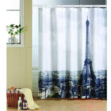 paris shower curtains msv paris polyester shower curtain 140794